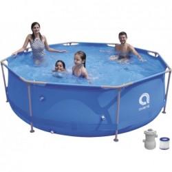 Piscina Desmontável com Depuradora 1136 L. Jilong 17798EU Super Round Pool Set 300x76 cm.