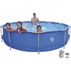 Piscina Desmontável com Depuradora 1136 L. Jilong 17799EU Super Round Pool Set 360x76 cm.