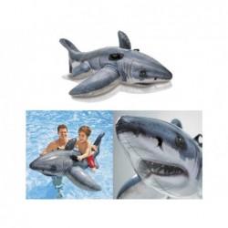 Tubarão Branco Insuflável Intex 57525 De 173x107 Cm   Piscinasdesmontaveisweb