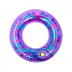 Bóia Inflável Violeta Com Penas 91 Cm. Bestway 36153